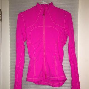 lululemon zip up jacket - hot pink size 2